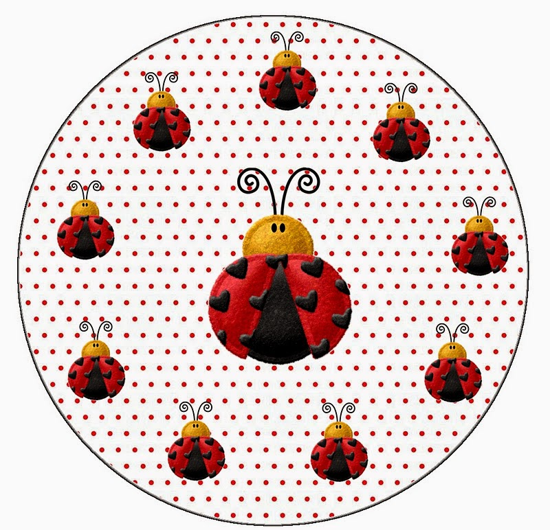 Toppers or Free Printable Candy Bar Labels for a Ladybugs.