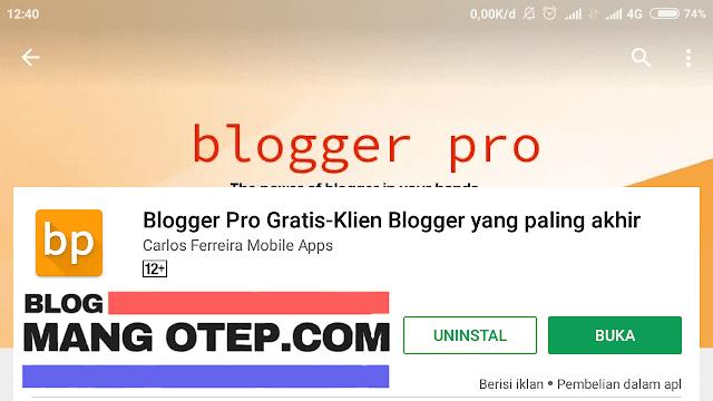 Blogger Pro, Cara Mudah Ngeblog Pakai Handphone