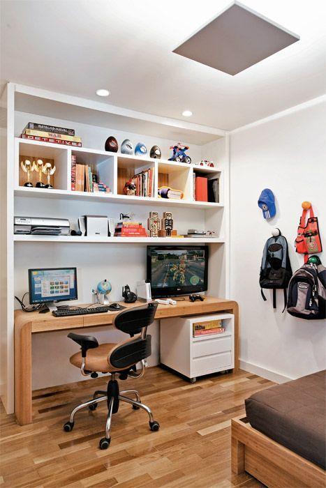 decoração de home office com nichos