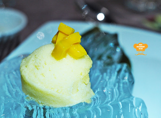 Palate Cleanser - Mango Sorbet - Vegetarian Fine Dining
