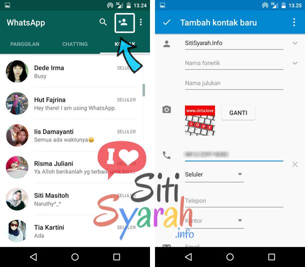 cara tambah kontak whatsapp
