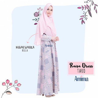 Gamis Amima Raisa Dress Taro