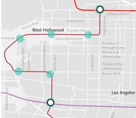 Potential Northern Extension of Crenshaw/LAX Line
