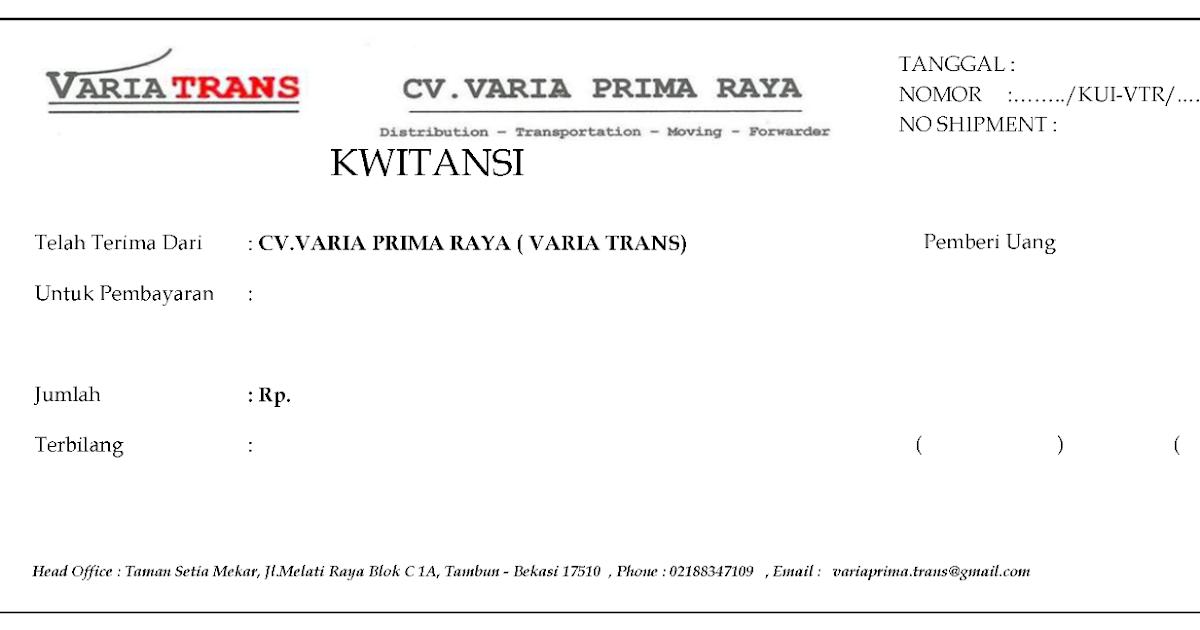 Cetak Kwitansi Percetakan Bekasi Printing
