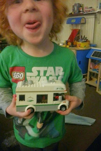 LEGO City Camper Van 60057 built by 4 year old