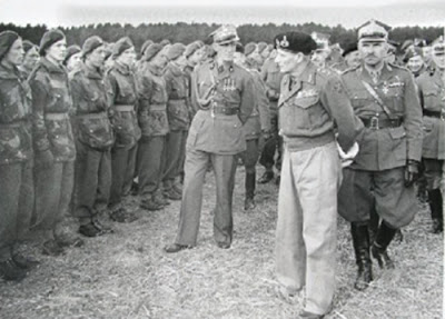 Field Marshall Montgomery inspect 1st Polish Independent Parachute Brigade