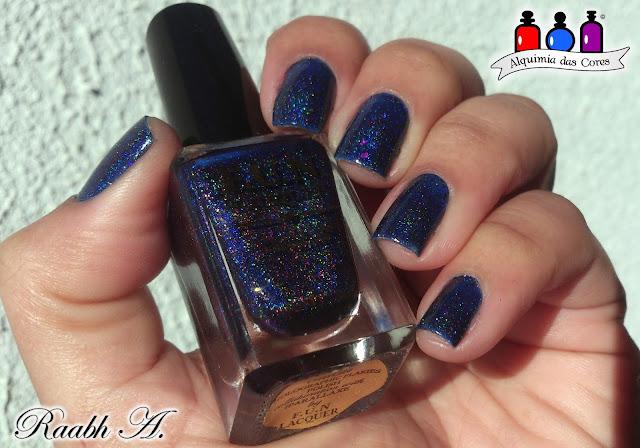 FUN Lacquer Orion, Fun Lacquer Iparallaxe Collection, Flocado, Holográfico, Azul, Moyou Pro 06, Raabh A.,