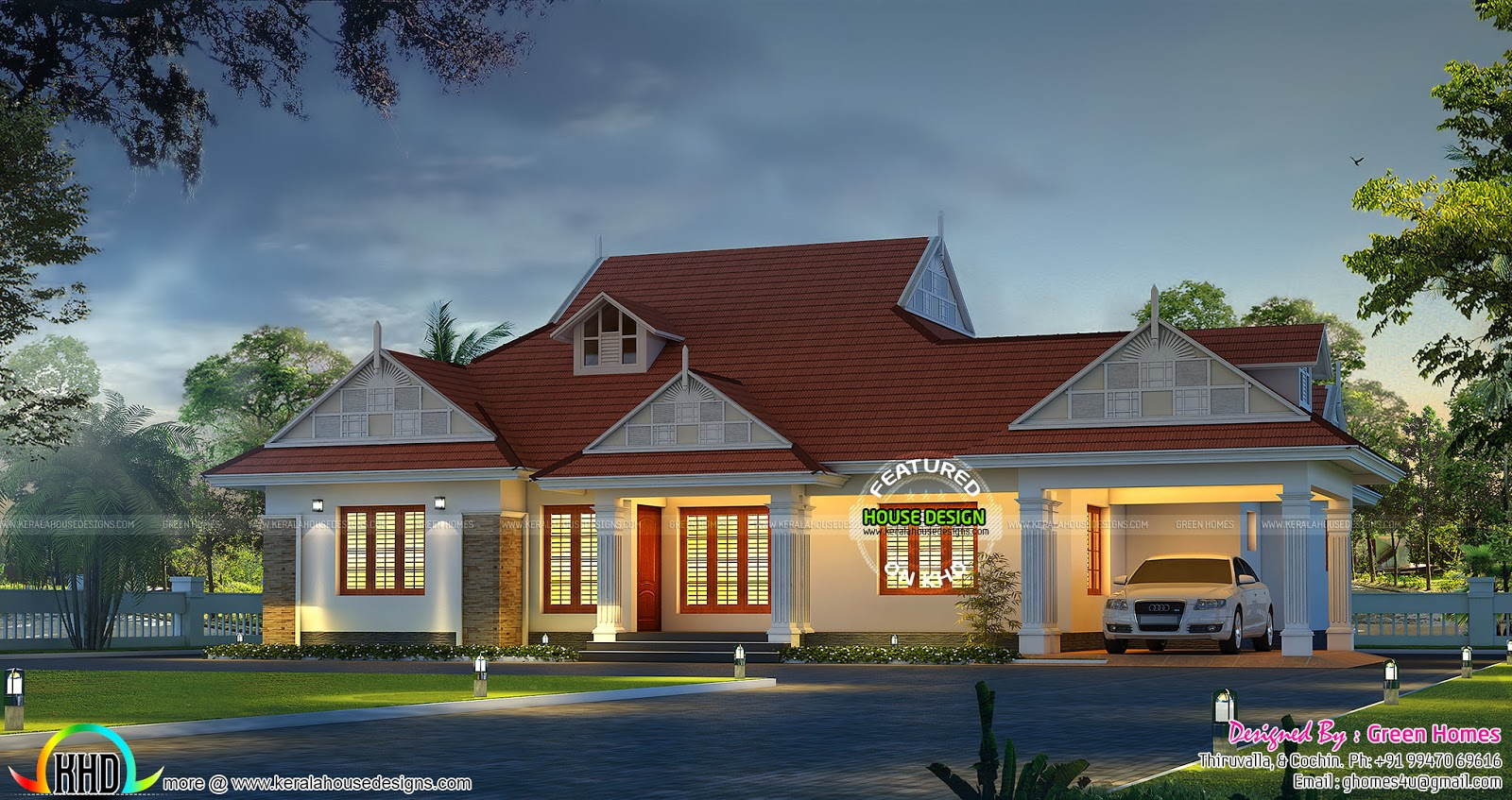 Excellent Single Floor Bungalow Kerala Home Design And