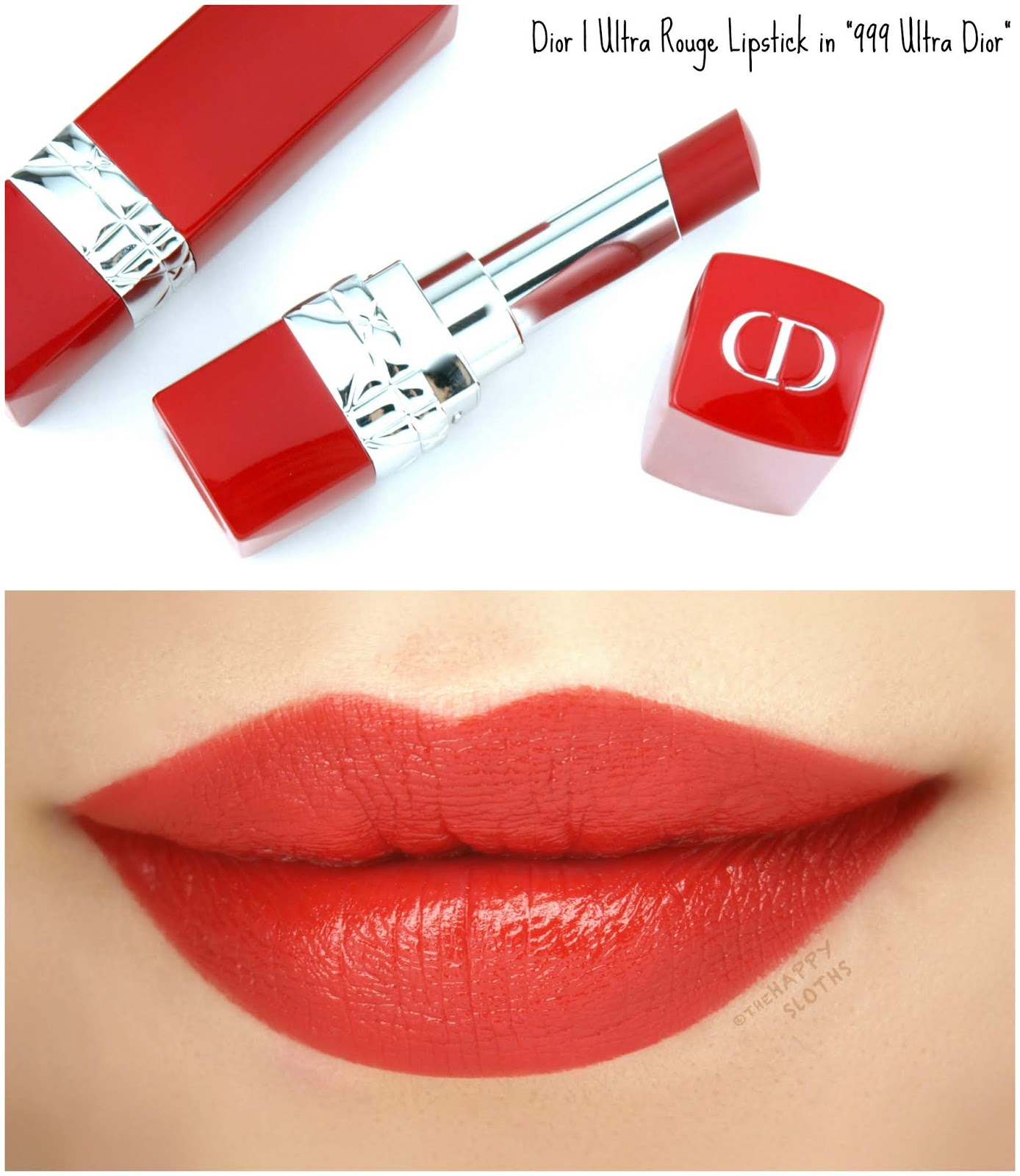 "Dior | Ultra Rouge Ultra Pigmented Hydra Lipstick in ""999 Ultra Dior"": Review and Swatches"