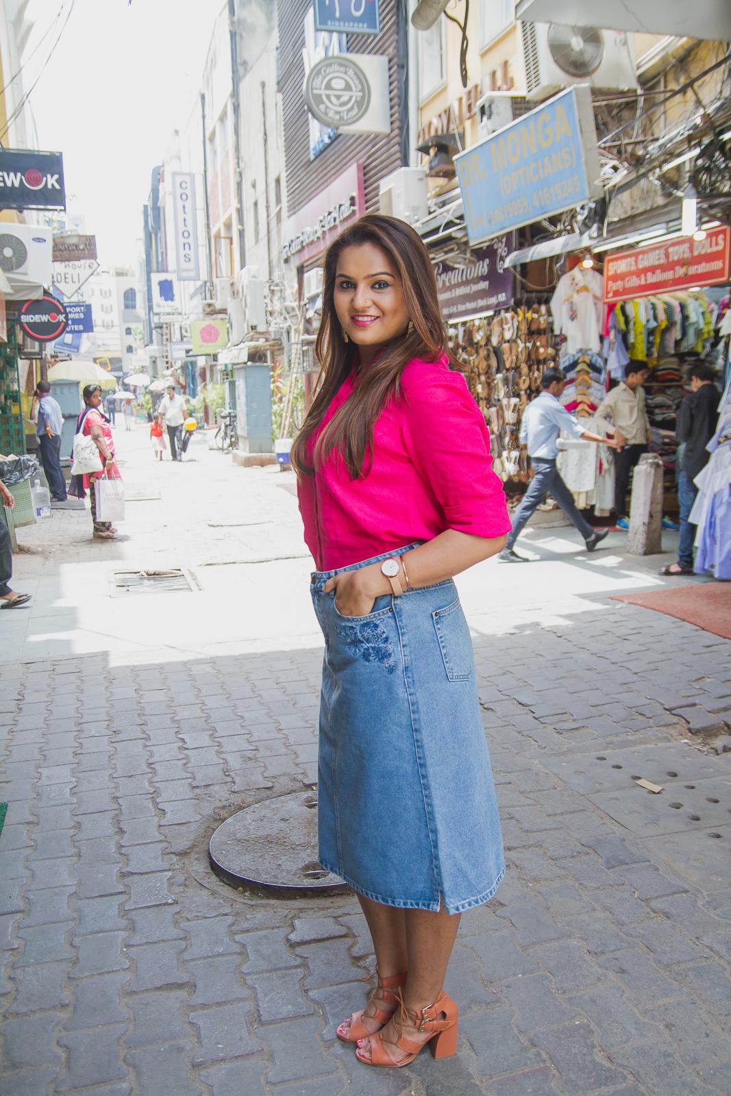 f2cb076314 Guilty Bytes: Indian Fashion Blogger | Delhi Style Blog | Beauty Blogger |  Wedding Blog: A Fresh Way to Wear A Denim Skirt