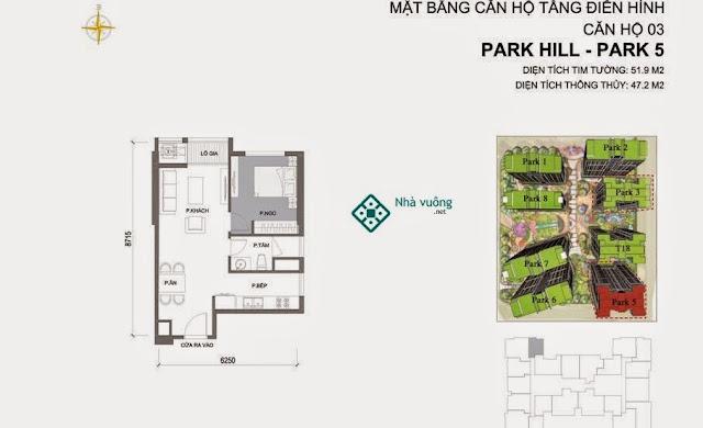 Căn hộ số 03 Times City Park Hill 5