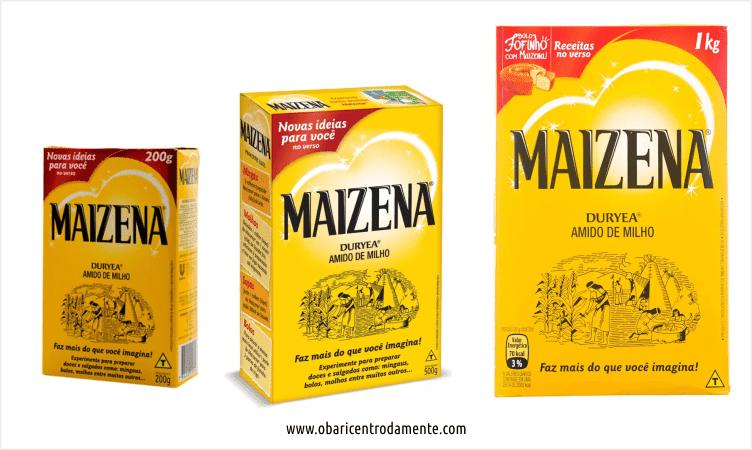 Comparação entre embalagens de amido de milho