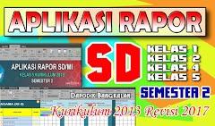 Download Aplikasi Rapor SD Semester 2 Kurikulum 2013 Revisi 2017
