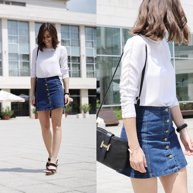 summer denim skirt