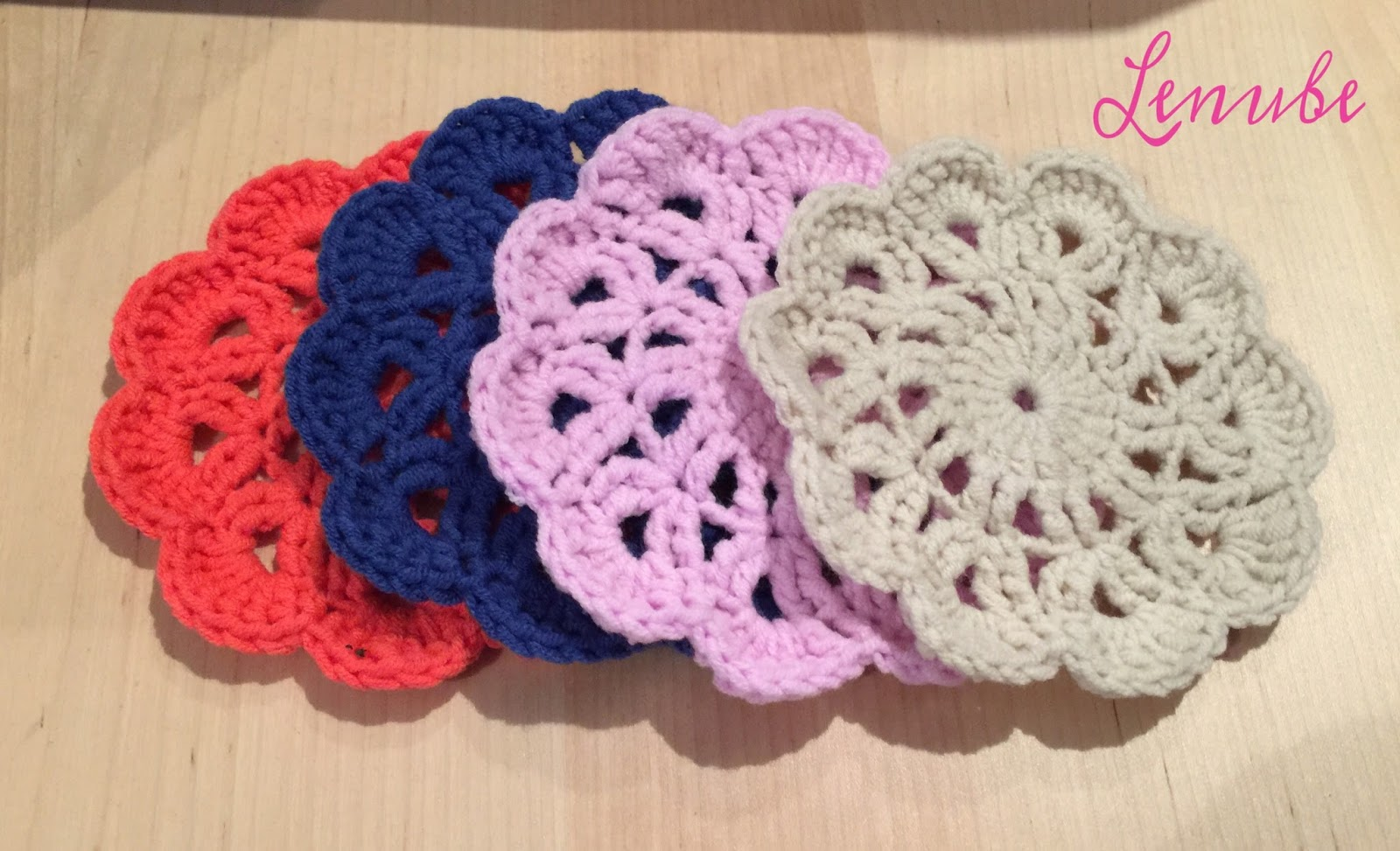 Diy patrón posavasos crochet