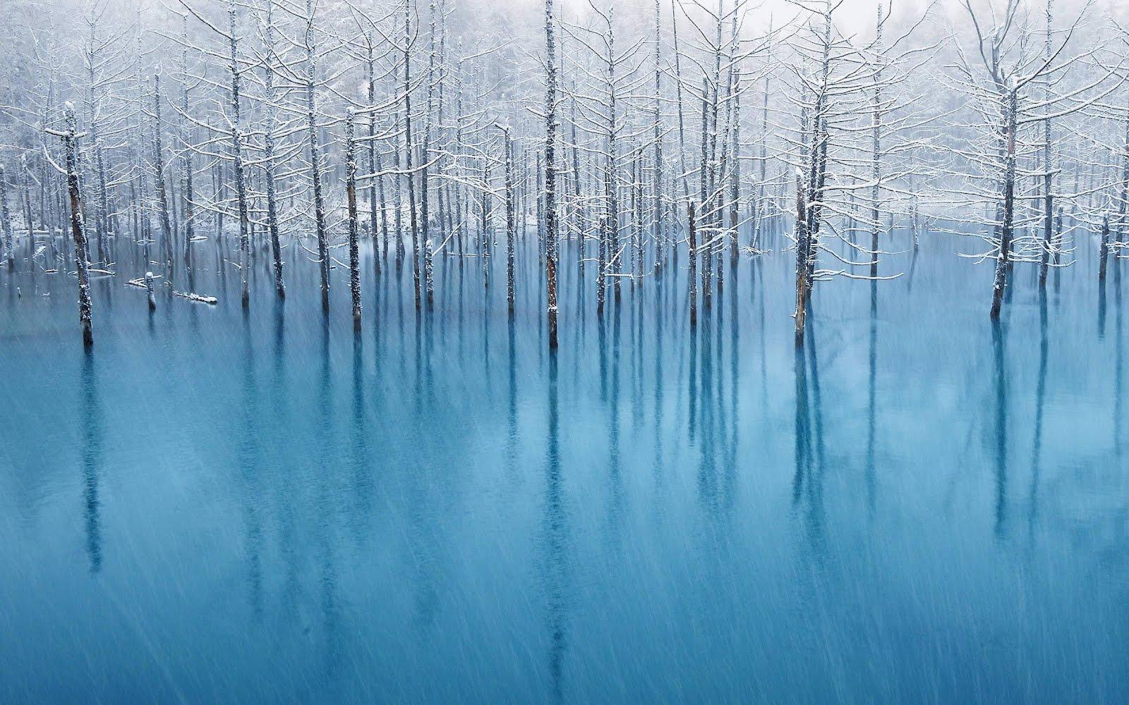 壁紙 Iphoneとipad用の 青い池 の壁紙 Blog Nobon