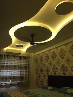 صور ديكورات جبس بورد صالونات وغرفة الجلوس | ديكور دائري الشكل