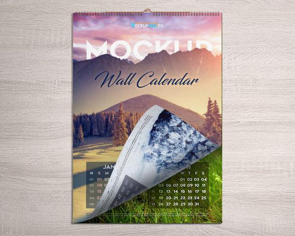 Mockup PSD Kalender 2019 Terbaru - Wall Calendar – Free PSD Mockup