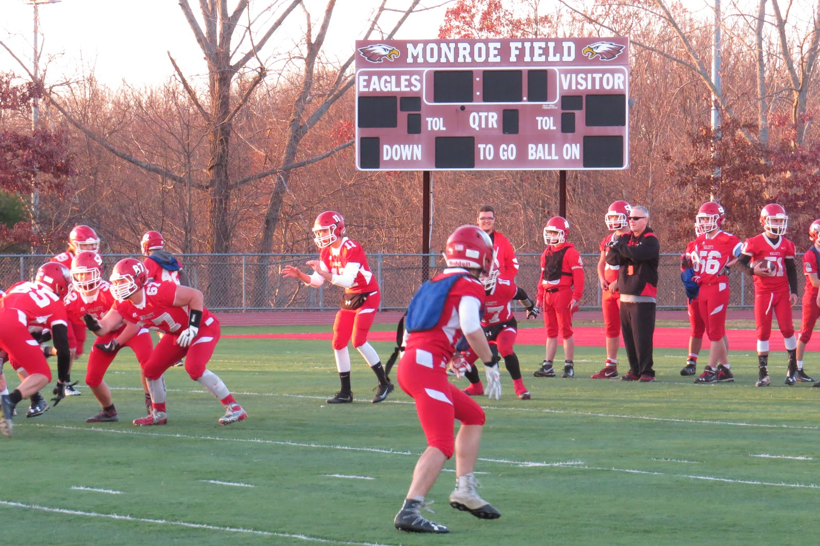 Sports on ct 69 november 2016 wolcott will attempt to keep points off the visitor side st joseph of the monroe field scoreboard as much as possible on tuesday sciox Images