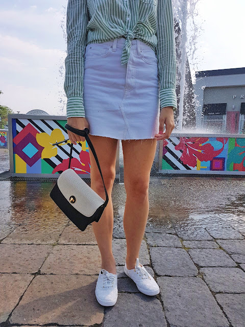 H&M, Keds, Kate Spade, Fashion, style, blogger, summer, trends, white denim, Montreal, Canada