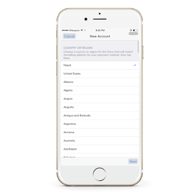 How to create an new Apple ID without credit card in Nepal