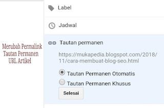 Merubah url, edit customs permalink, membuat tautan permanen