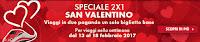 Promozioni viaggi: biglietto treno Trenitalia in offerta speciale 2 per 1 dal 13 al 18 febbraio 2017