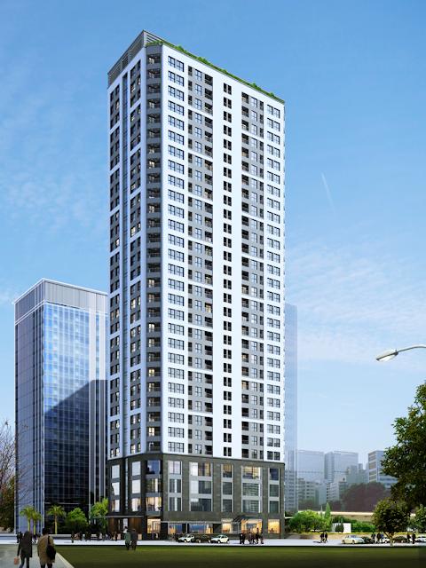 Tổng thể toà chung cư 2B Vinata Towers