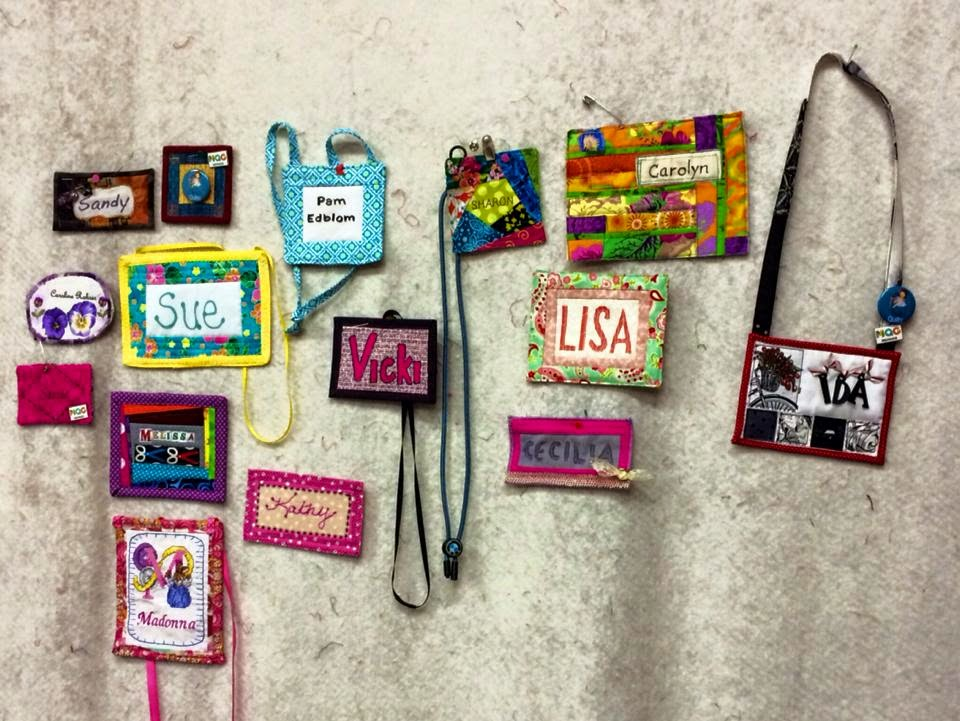 we even had a special raffle drawing for those who made a name tag here is all our tags up on the design wall together - Name Tag Design Ideas
