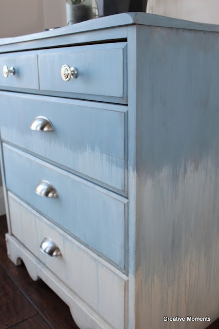 dresser with cup pulls