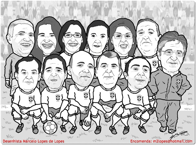 Caricaturas do time