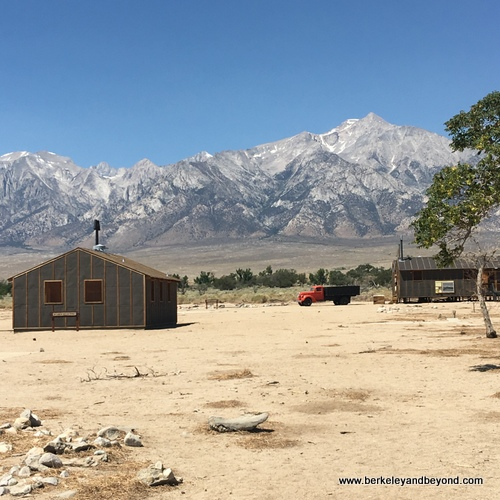 exterior of women's latrine at Manzanar National Historic Site in Independence, California