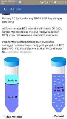 Pentingnya melakukan vacum pada saat pemasangan AC baru, khususnya AC yang menggunakan jenis freon R32 dan R410..