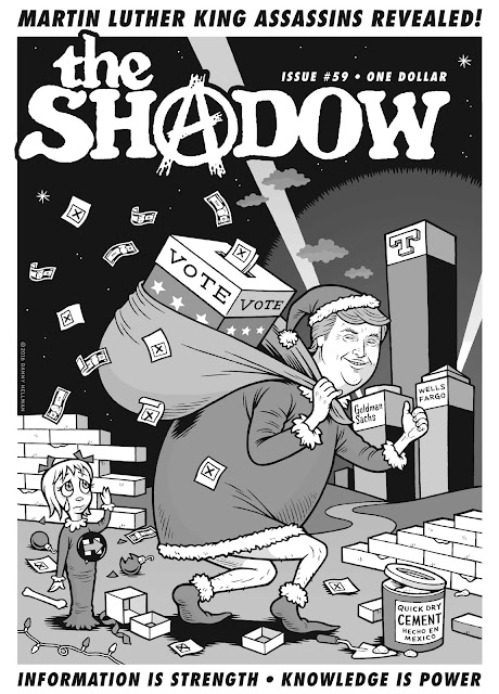 Cover art for THE SHADOW, December 2016