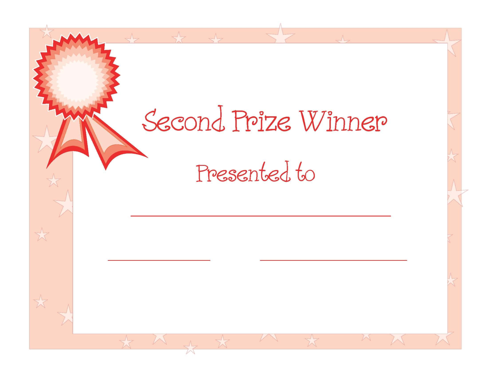 2nd winner certificate template free download dtemplates