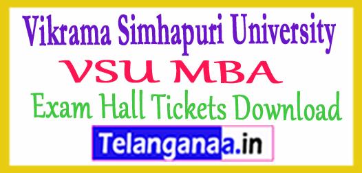 Vikrama Simhapuri University VSU MBA Exam Hall Tickets Download