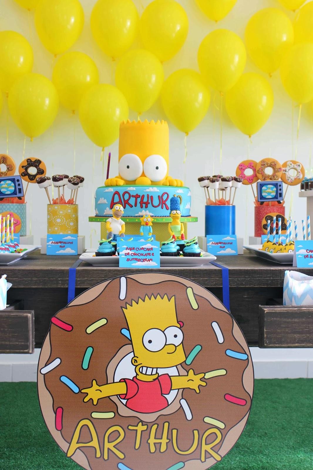 Tudo Pra Sua Festa Anivers 225 Rio Os Simpsons