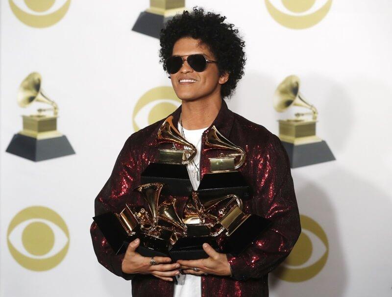Bruno Mars é o grande vencedor do Grammy 2018