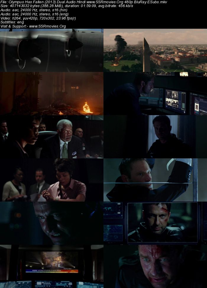 Olympus Has Fallen (2013) Dual Audio Hindi 480p BluRay