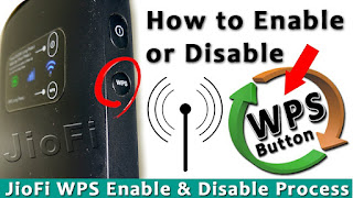 JioFi WPS Enable or Disable Process