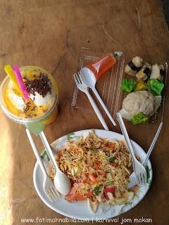 kerabu maggi, manggo float, dimsum, makanan thailand