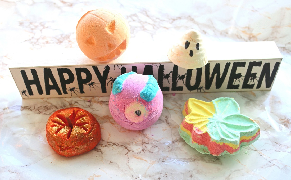 LUSH Halloween Collection 2016 Boo, Monsters' Ball, Sparkly Pumpkin, Autumn Leaf, Pumpkin