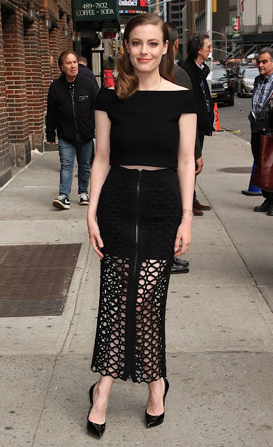 Actress, @ Gillian Jacobs at 'The Late Show with Stephen Colbert' in New York City