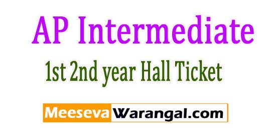 AP Intermediate Annual Exam Hall Tickets