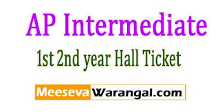 AP Intermediate Annual Exam Hall Tickets 2017