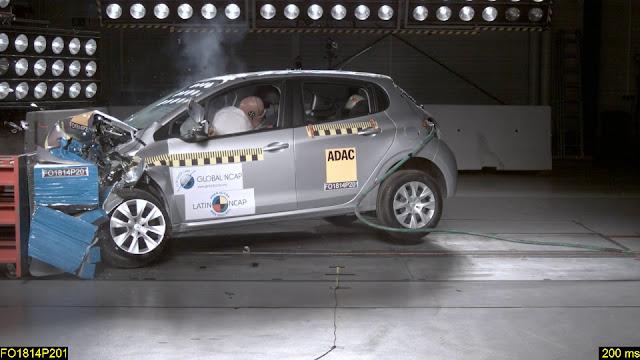 Novo Peugeot 208 2017 - teste de segurança