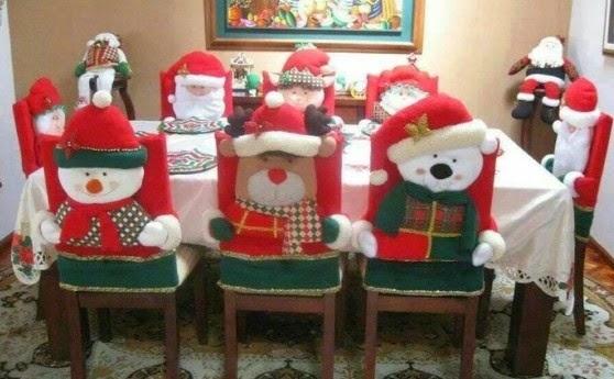 Sillas decoradas para la navidad 2014 especial de - Decoracion mesas navidenas ...