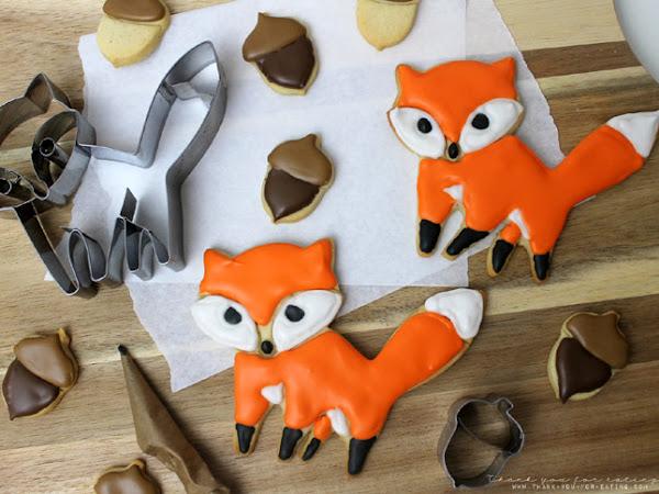Zuckersüße Fuchs-Cookies mit Royal Icing
