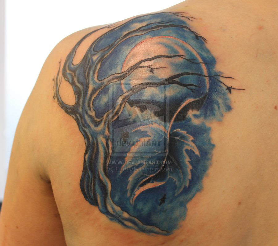 Moon Tattoo3D Tattoos