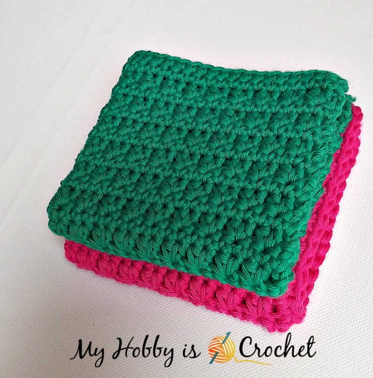 Easy Crochet Dishcloth - Free Crochet Pattern - Written Instructions and Crochet Chart